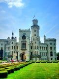 Замок Hluboka в чехии Стоковая Фотография RF