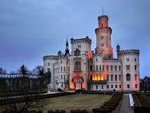 Замок Hluboka, замок сказки стоковое фото rf