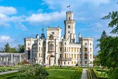 Замок Hluboka nad Vltavou в чехии стоковые фотографии rf