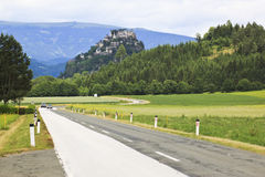 Замок Hochosterwitz в Carinthia, австрийском Стоковая Фотография