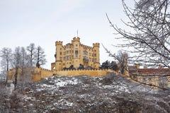 Замок Hohenschwangau в Германии. Бавария Стоковые Фото