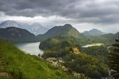 Замок Hohenschwangau в Германии Стоковое Изображение RF