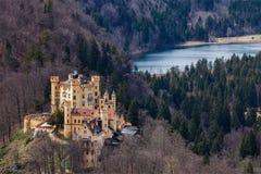 Замок Hohenschwangau, Германия Стоковые Фотографии RF