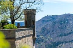 Замок Hohenzollern, Германия - 30-ое апреля 2017, Hohenzollern Ca Стоковое Изображение