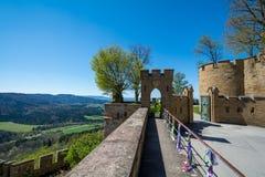 Замок Hohenzollern, Германия - 30-ое апреля 2017, Hohenzollern Ca Стоковое Изображение RF