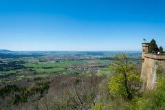 Замок Hohenzollern, Германия - 30-ое апреля 2017, Hohenzollern Ca Стоковые Изображения RF