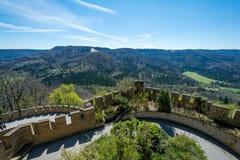Замок Hohenzollern, Германия - 30-ое апреля 2017, Hohenzollern Ca Стоковые Изображения