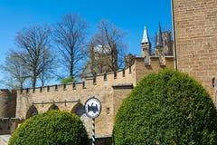 Замок Hohenzollern, Германия - 30-ое апреля 2017, Hohenzollern Ca Стоковое фото RF