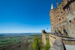 Замок Hohenzollern, Германия - 30-ое апреля 2017, Hohenzollern Ca Стоковые Фотографии RF