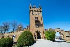 Замок Hohenzollern, Германия - 30-ое апреля 2017, Hohenzollern Ca Стоковое Фото