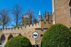 Замок Hohenzollern, Германия - 30-ое апреля 2017, Hohenzollern Ca Стоковая Фотография RF