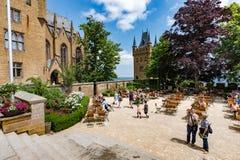 Замок Hohenzollern, Германия - 24-ое июня 2017: Hohenzollern Castl Стоковые Изображения