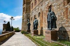 Замок Hohenzollern, Германия - 24-ое июня 2017: Hohenzollern Castl Стоковое Изображение RF