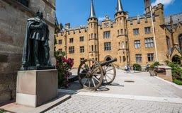 Замок Hohenzollern, Германия - 24-ое июня 2017: Hohenzollern Castl Стоковая Фотография