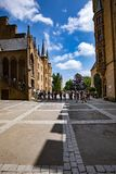 Замок Hohenzollern, Германия - 24-ое июня 2017: Hohenzollern Castl Стоковое фото RF