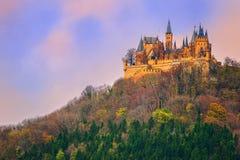 Замок Hohenzollern, Штутгарт, Германия стоковое фото rf