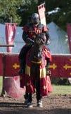 замок horseback knight средневековое warwick Стоковые Фотографии RF