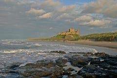 замок III bamburgh стоковая фотография rf