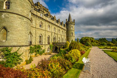 Замок Inveraray в западной Шотландии, Великобритании Стоковые Фото