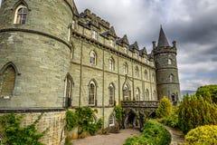 Замок Inveraray в западной Шотландии, Великобритании Стоковые Изображения