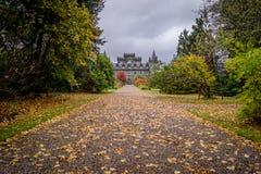 Замок Inveraray, Шотландия Стоковые Фото