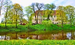 Замок Jaunpils в Латвии Стоковое Изображение