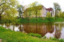 Замок Jaunpils в Латвии Стоковое фото RF