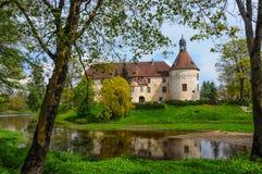 Замок Jaunpils, Латвия Стоковые Изображения