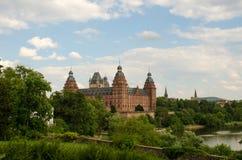 Замок Johannisburg, Ашаффенбург Стоковые Изображения RF