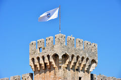 Замок Kamerlengo в Trogir, Хорватии - архитектурноакустические детали Стоковое Изображение RF