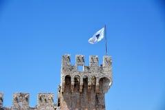 Замок Kamerlengo в Trogir, Хорватии - архитектурноакустические детали Стоковые Фотографии RF
