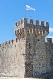 Замок Kamerlengo, Trogir, Хорватия Стоковая Фотография