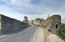Замок Kamianets-Podilskyi в Украине Стоковая Фотография