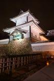 Замок Kanazawa на ноче Стоковое фото RF