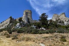 Замок Kantara - турецкая республика северного Кипра Стоковое Изображение