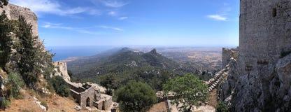 Замок Kantara - турецкая республика северного Кипра Стоковые Изображения RF