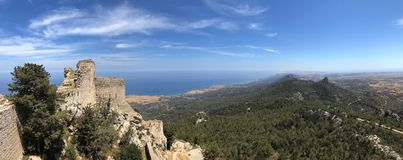 Замок Kantara - Turkish Кипр Стоковое Фото