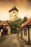 Замок Karlstein взгляд городка республики cesky чехословакского krumlov средневековый старый Стоковое Изображение RF