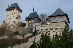 Замок 1 Karlstejn, чехия Стоковые Изображения