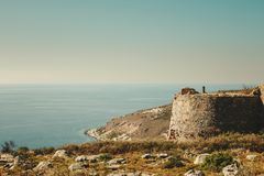 Замок Kelefa в Греции стоковая фотография rf
