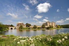 замок kent leeds средневековая Великобритания Стоковое фото RF