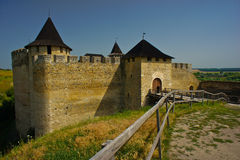 Замок Khotinsk, Украина Стоковая Фотография RF