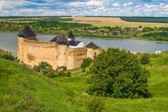 Замок Khotyn, 13-17 столетие, Украина Стоковые Изображения