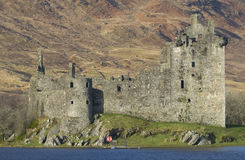 Замок Kilchurn, благоговение Loch, Argyll & Bute Стоковое фото RF