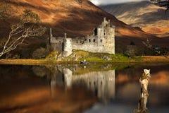Замок Kilchurn на благоговении Loch Стоковая Фотография