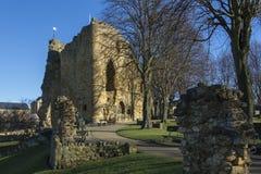 Замок Knearsborough - северный Йоркшир - Великобритания стоковое изображение rf