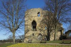 Замок Knearsborough - северный Йоркшир - Великобритания стоковое фото rf