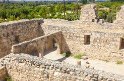 Замок Kolossi средневековый Стоковое Изображение