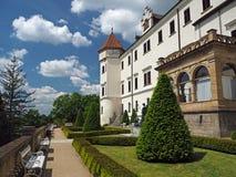 Замок Konopiste замка стоковое изображение rf