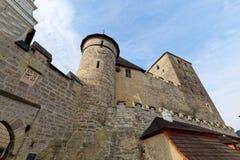 Замок Kost готический взгляд городка республики cesky чехословакского krumlov средневековый старый Стоковые Фото